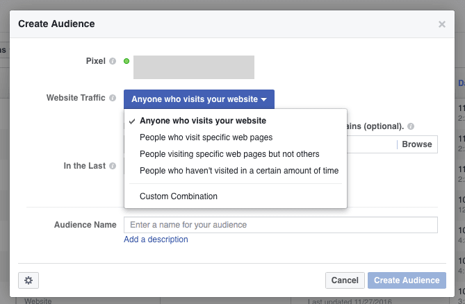 Create Audience Similar to Facebook